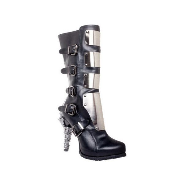 Women's Hades Varga Metal Plated Boot ($198) ❤ liked on Polyvore featuring  shoes,
