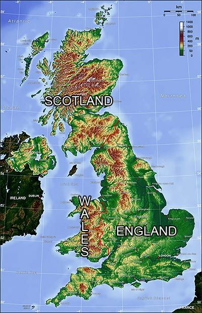 Topography Map Of England Pictures Of England England Map British Isles Map