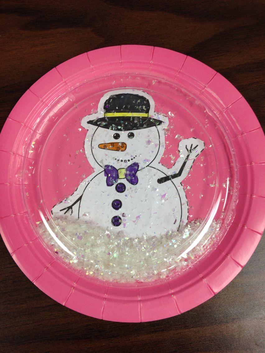 Paper Plate Snow Globe Snow Globe Crafts Snow Crafts Globe Crafts