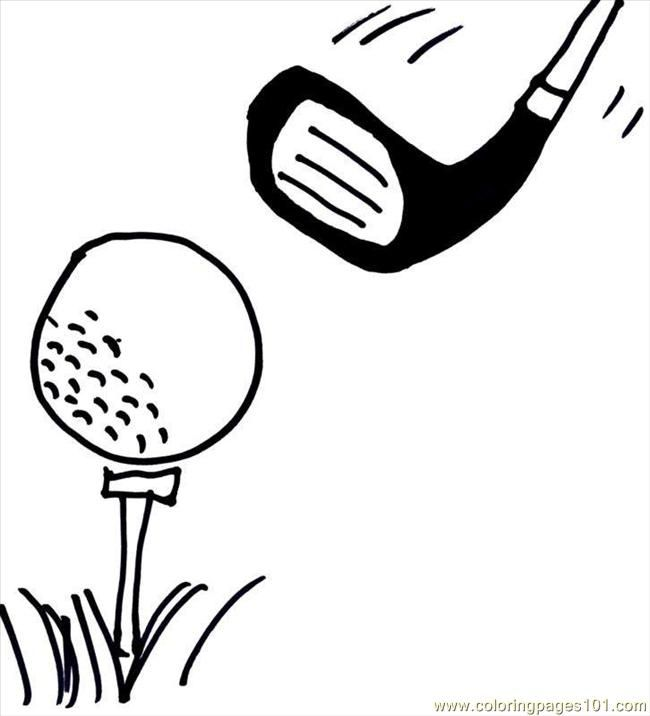 Printable Images Golf Coloring Pages Golf Sports Golf Free