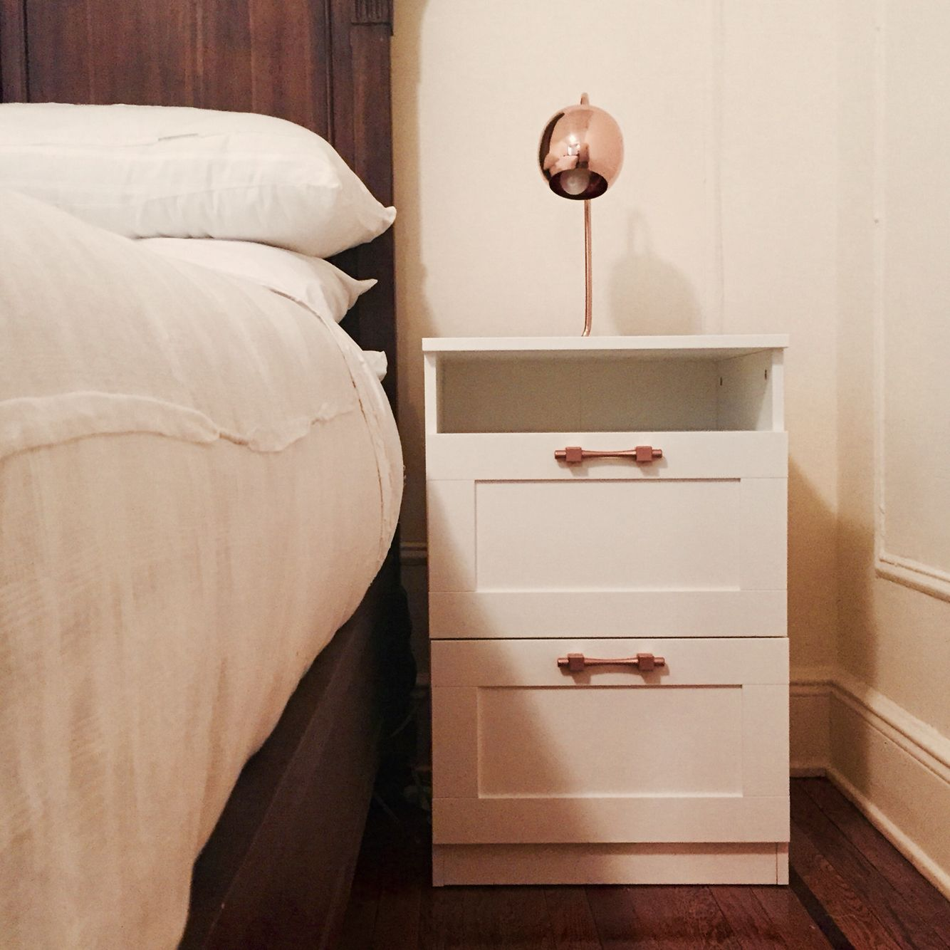 Ikea Brimnes Hack With Copper Handles