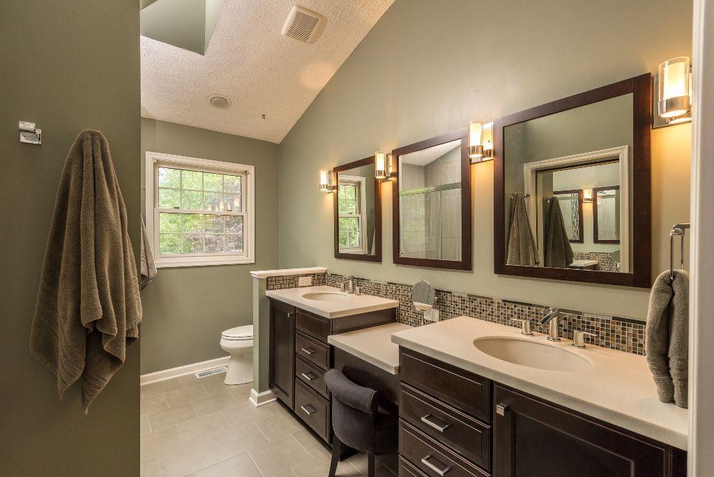 bathroom color schemes beige tile