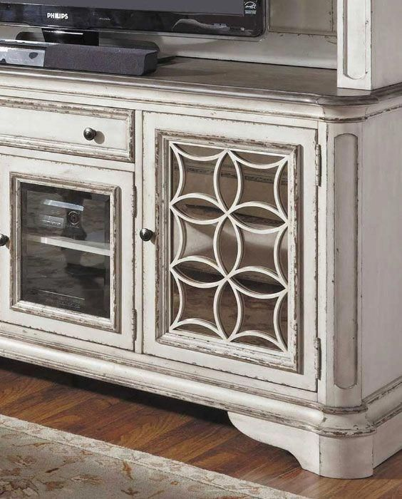 The Magnolia Manor TV console and hutch by Liberty Furniture brings