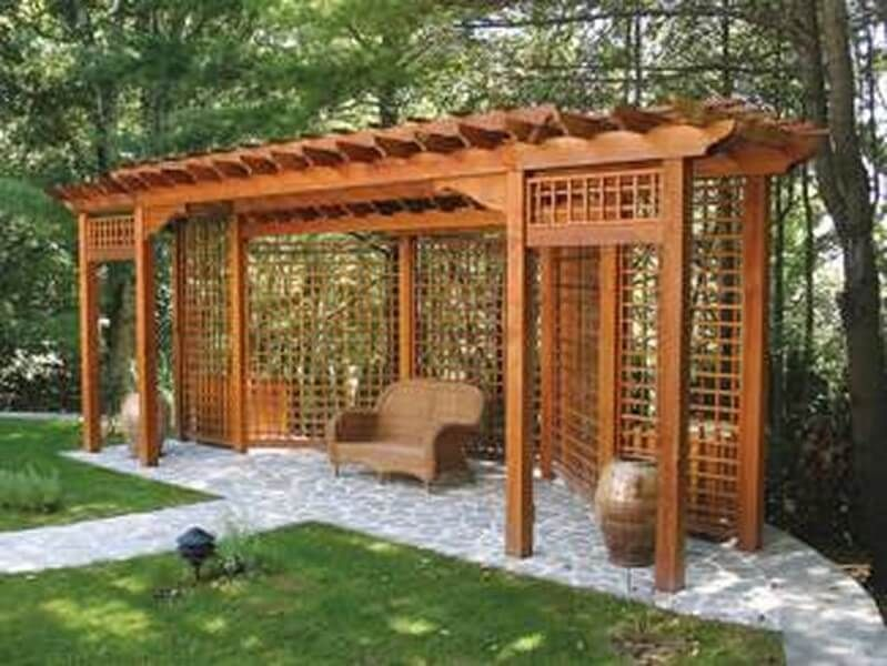 Pergola Jardin Bois Massive0 Outdoor Projects Design De