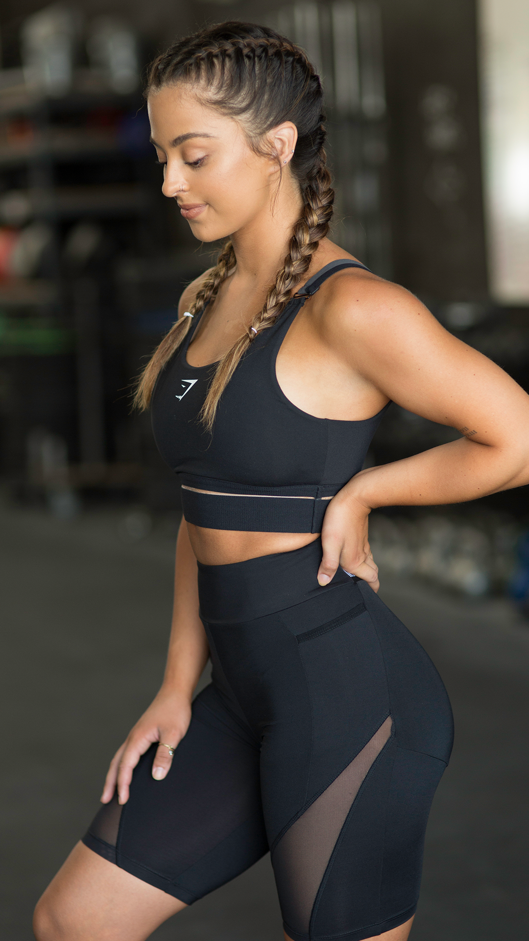 Go Monochrome And Match Your Elevate Sports Bra And Cycling Shorts For The Ultimate Outfit Inspo Gymsh Sports Day Outfit Womens Workout Outfits Sport Outfits