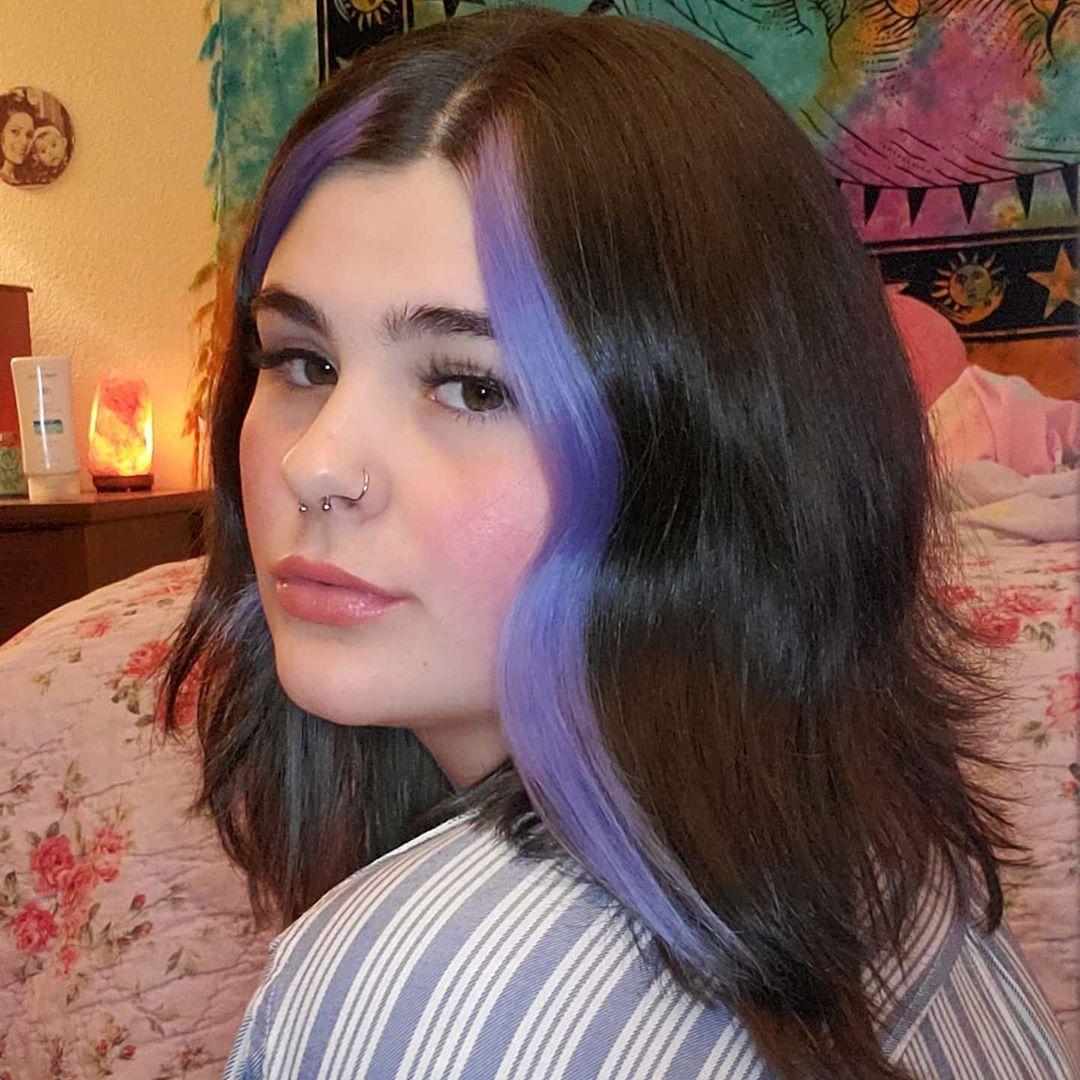 Periwinkle In 2020 Hair Color Streaks Hair Inspo Color Aesthetic Hair