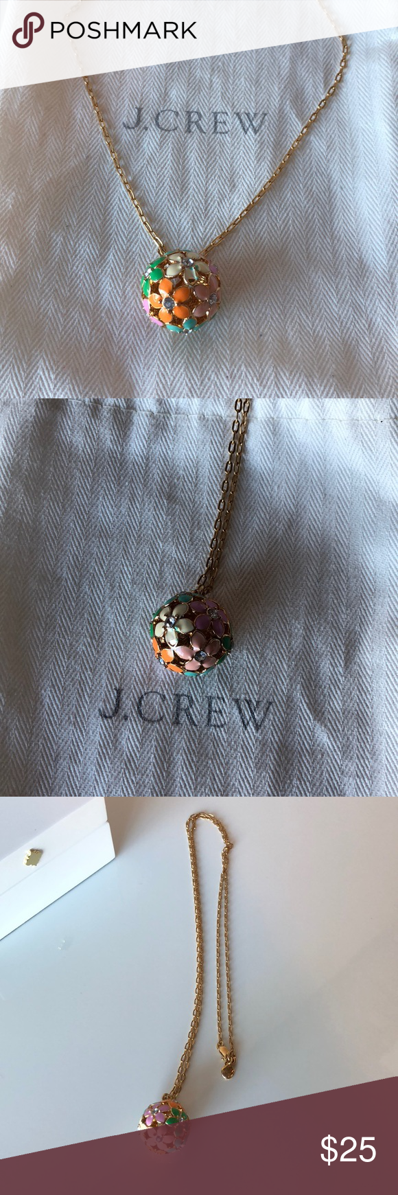 J crew floral pendant necklace my posh picks