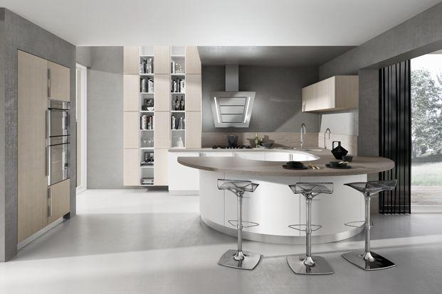 Diseño de cocinas modernas, combina lineas simples en muebles y ...
