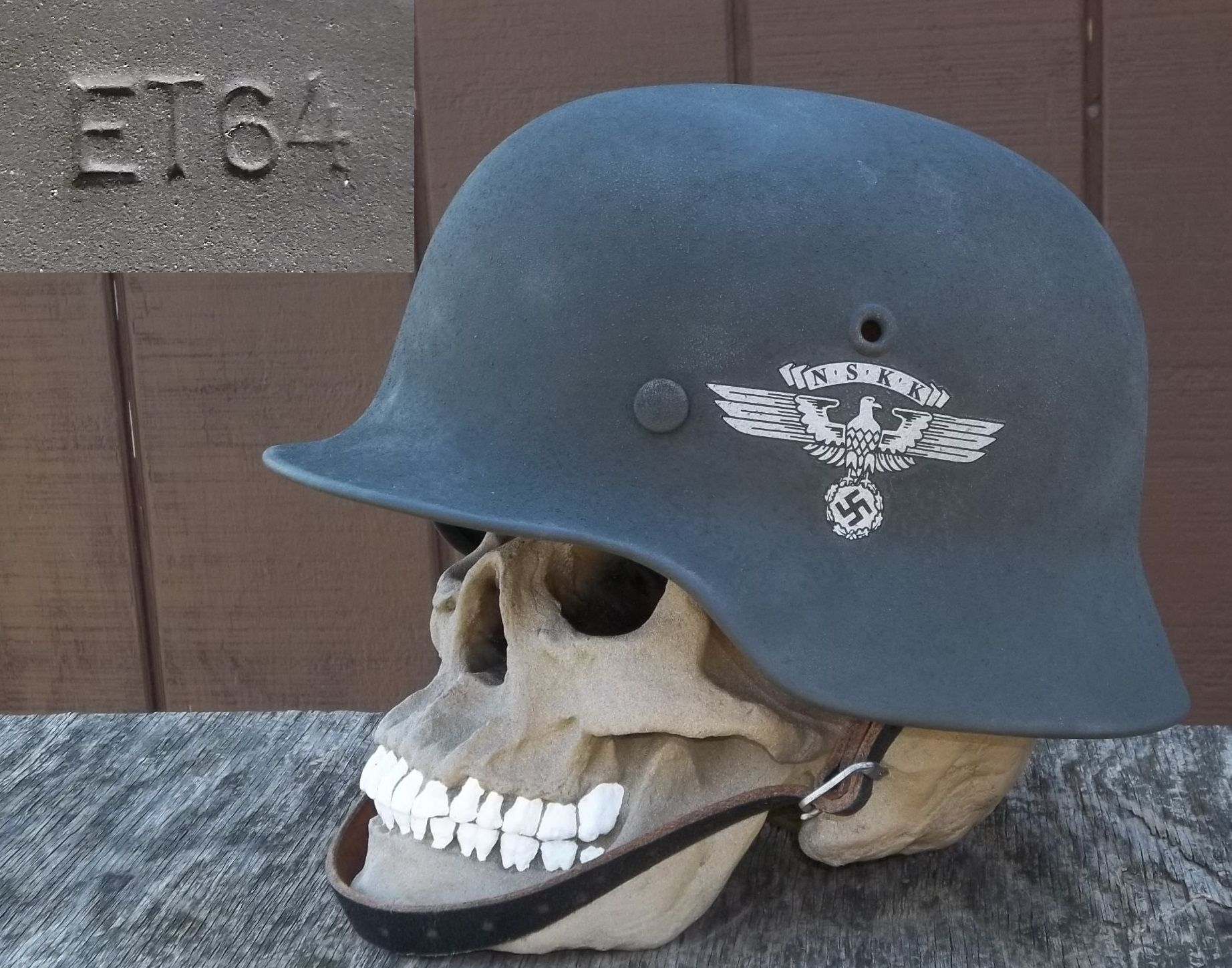 German wwii helmet m40 et64 n s k k were sort of paramilitary teamsters