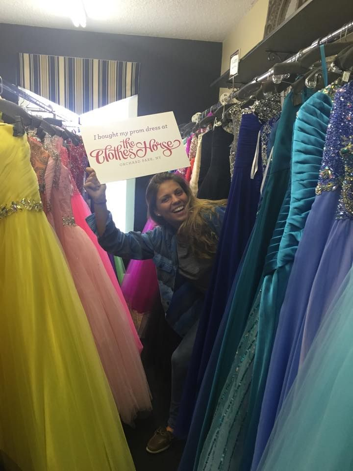 Having some fun after finding the #perfectprom dress at The Clothes Horse! Thanks for joining the Sweepstakes and congrats! #prom #promdress #prom2015 #shoplocal #OrchardParkNY #shopBuffalo #Buffaloprom #promdresses #TCHProm15 #ClothesHorseProm15 #freepromdress #shoporchardpark #perfectprom