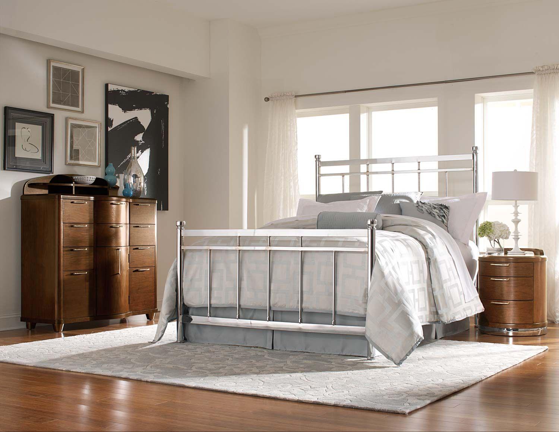 Homelegance Zelda Chrome Bed Set - Chrome/Warm Cherry $2,081.00 ...