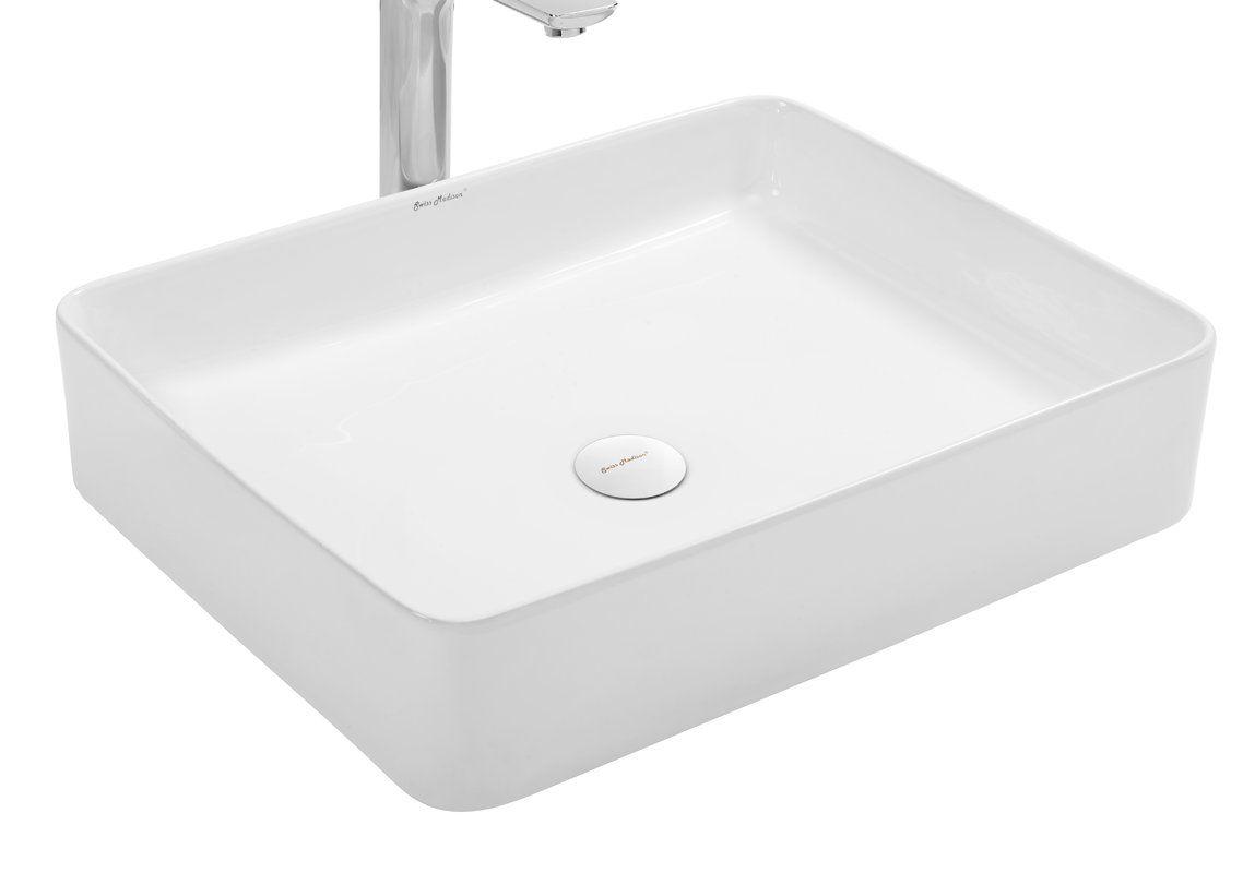 Concorde Ceramic Rectangular Vessel Bathroom Sink Sink Rectangular Vessel Sink Bathroom Sink