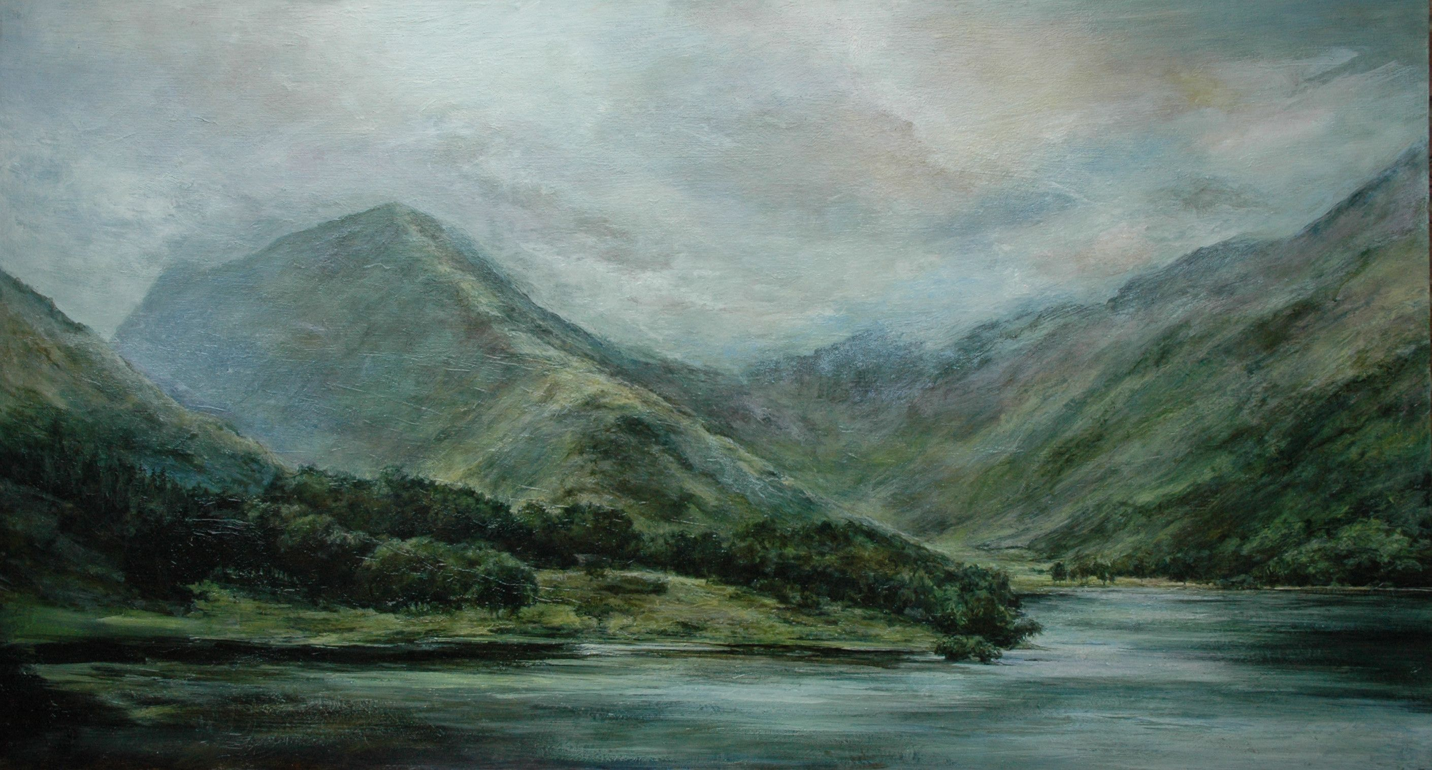 Oil Painting Of Butteremere In The Lake District By English Landscape Painter Sue Lawson Landscape Paintings Oil Painting Landscape Landscape