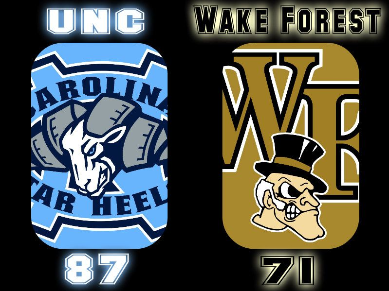 UNC 87 Wake Forest 71