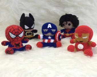 Easy Amigurumi Pdf : Spiderman amigurumi pattern superhero spider marvel easy diy pdf