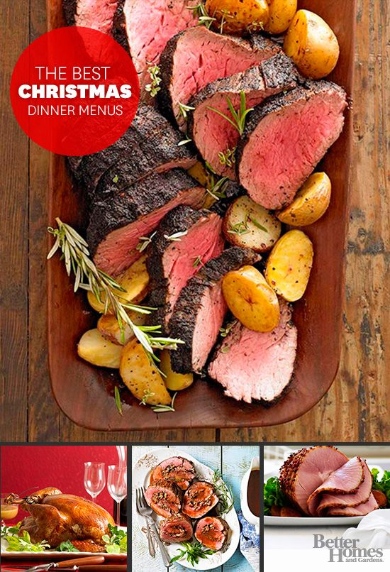 Start planning your Christmas feast with our great dinner menus here: http://www.bhg.com/christmas/dinner/roast-beef/?socsrc=bhgpin111614roastbeefdinner&page=3
