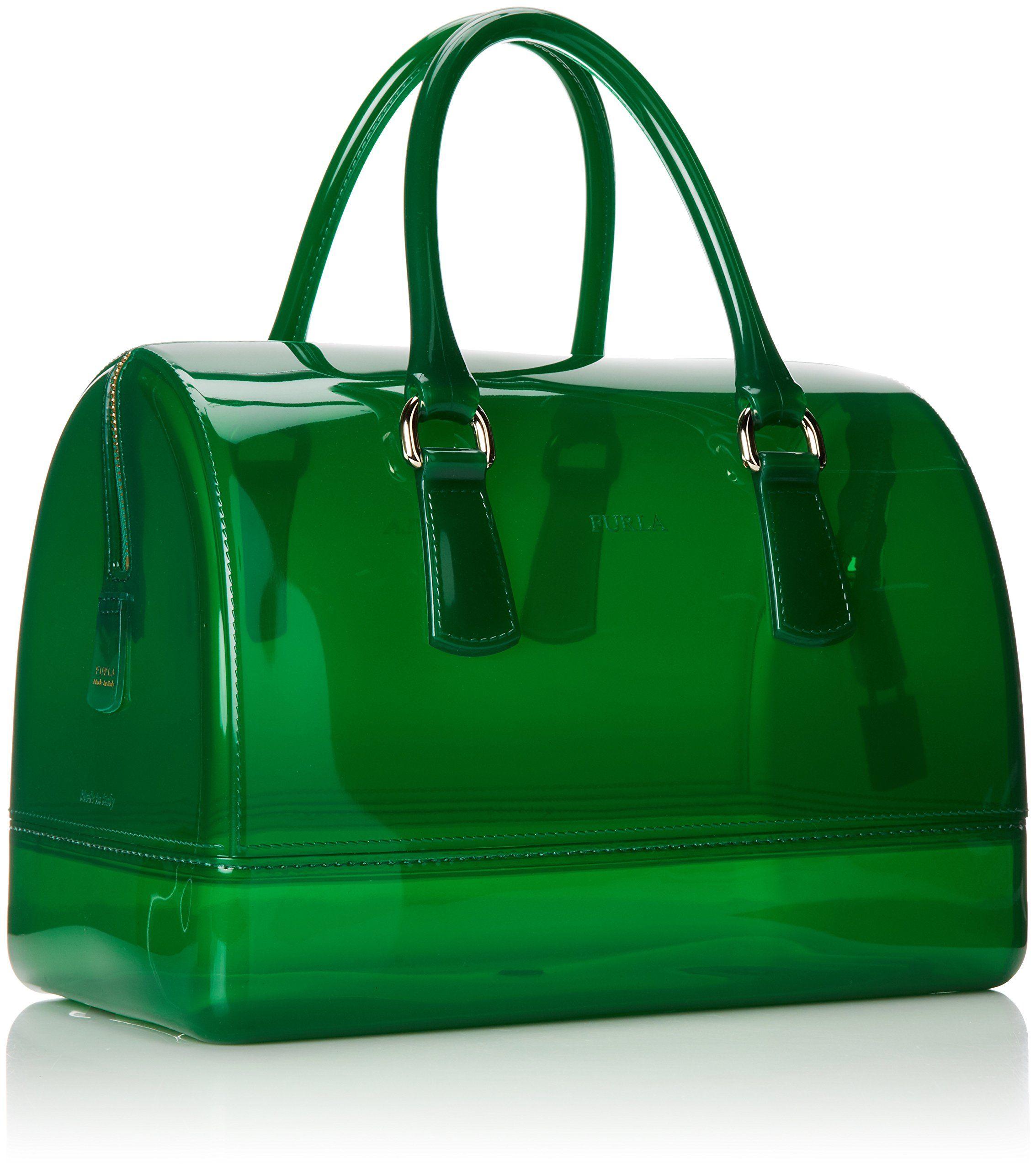 Amazon.com: Furla Candy Medium Satchel, Smeraldo/Green, One Size: Clothing