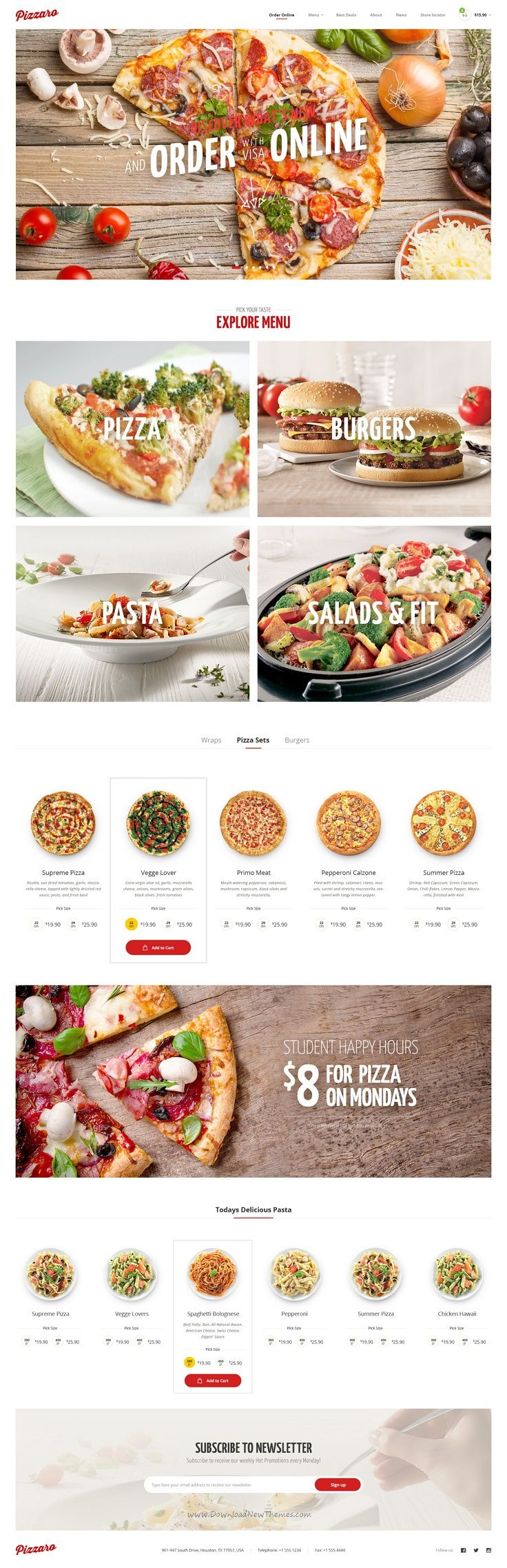 Pizzaro Is A Beautiful Psd Template For Fast Food Sushi And Pizza
