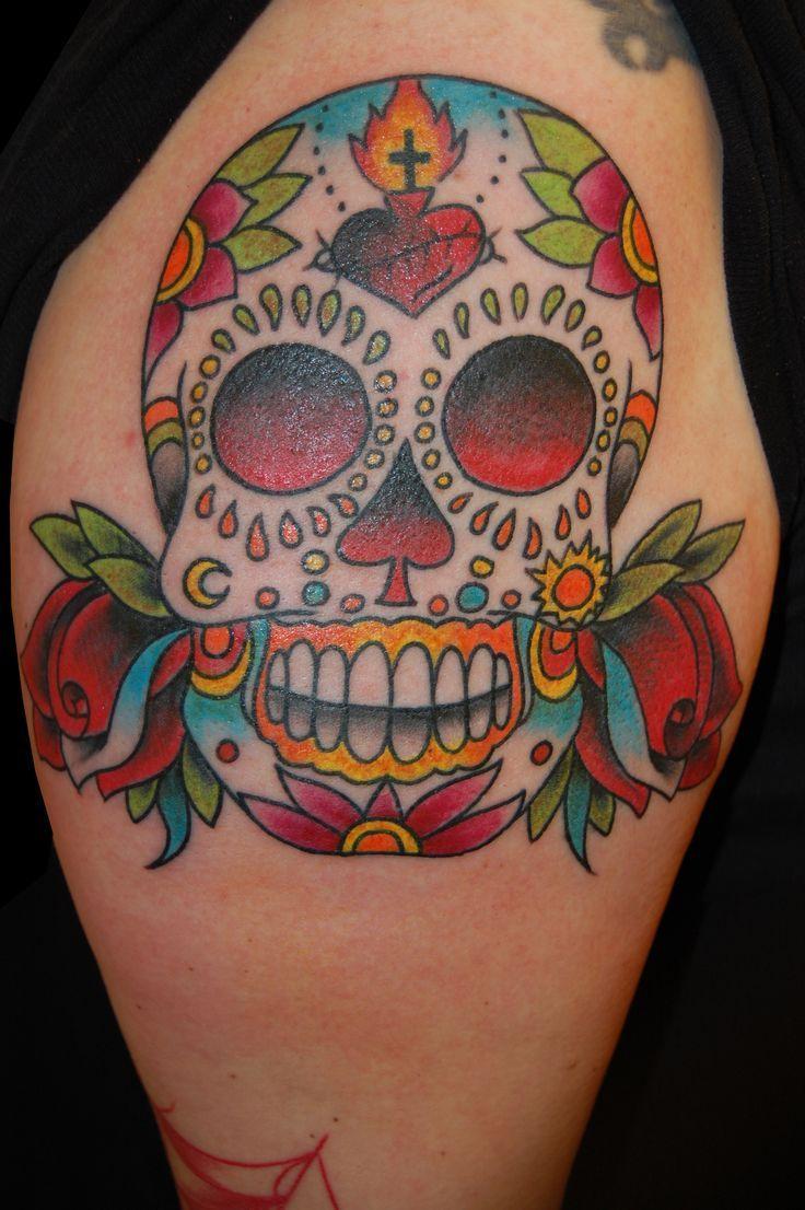 sugar skull traditional cerca con google skull sugar traditional tattoo pinterest. Black Bedroom Furniture Sets. Home Design Ideas