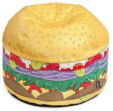 Astounding Giant Burger Bean Bag Chair Ad Kids Room In 2019 Bean Caraccident5 Cool Chair Designs And Ideas Caraccident5Info