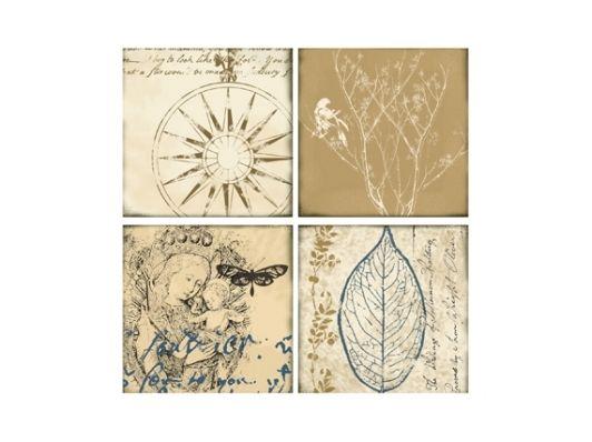 Fine Art Prints For Sale  Vintage Blues I  ArtsyHome-Home and Garden Design Ideas