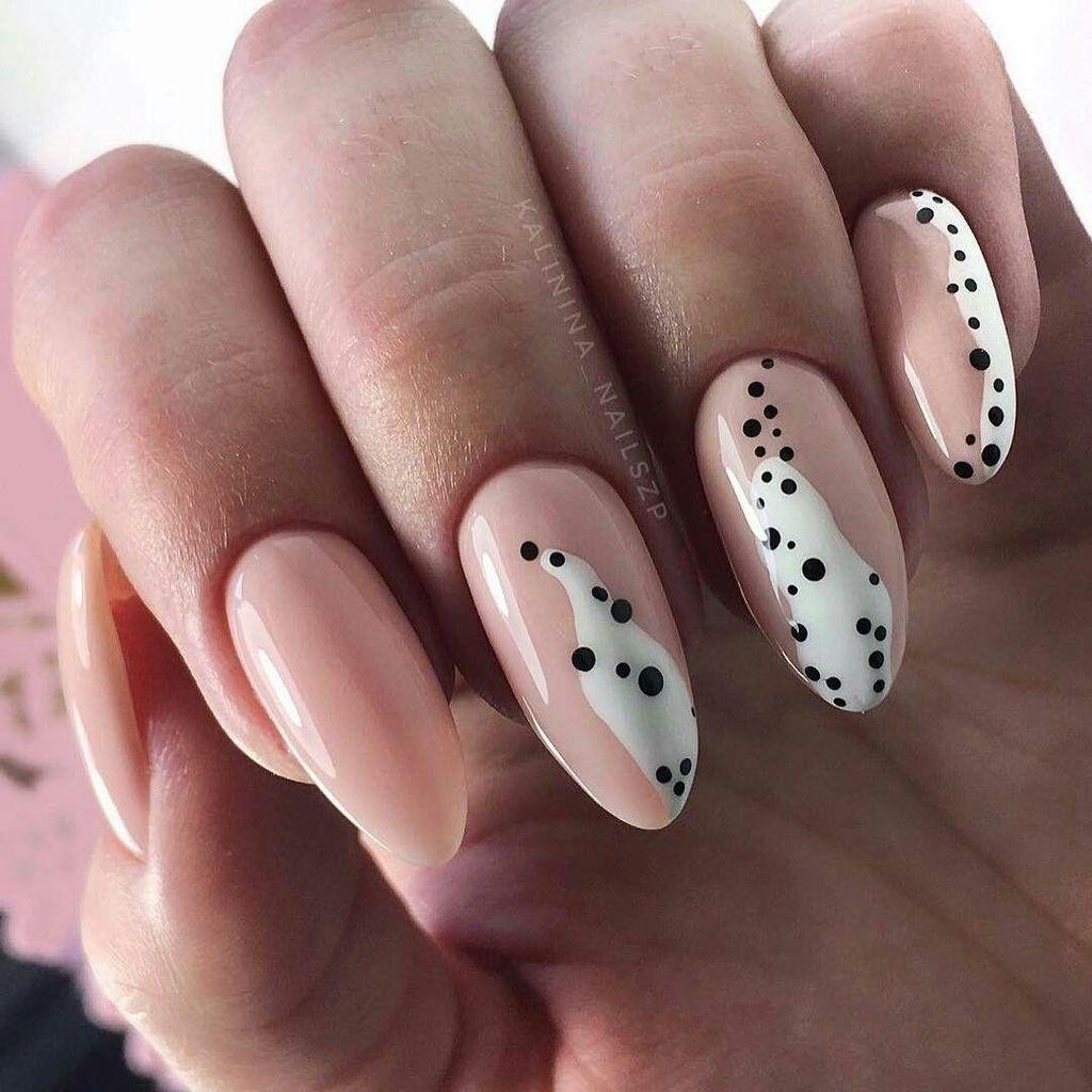 abstract body nail art