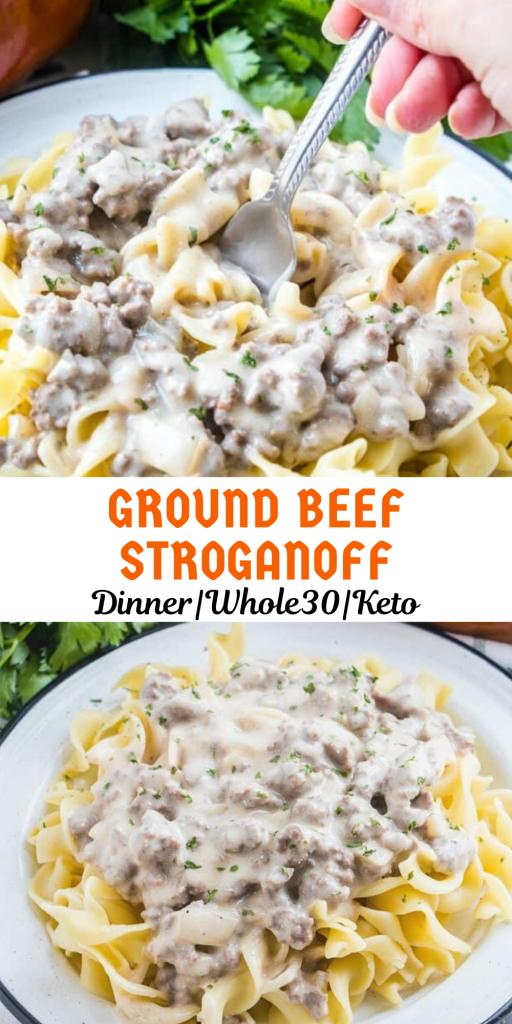 Ground Beef Stroganoff Ground Beef Recipes Healthy Dinner With Ground Beef Beef Dinner