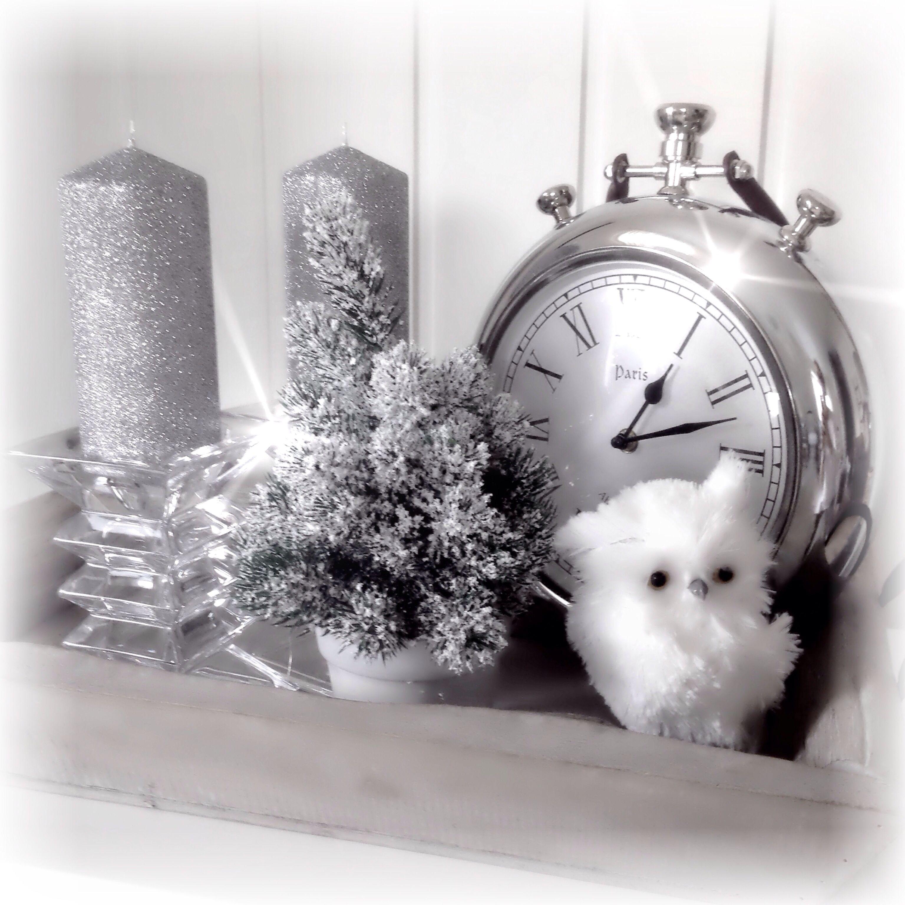 Glitter and an owl, xmas, christmas, decor, decoration, jul, interior inspiration