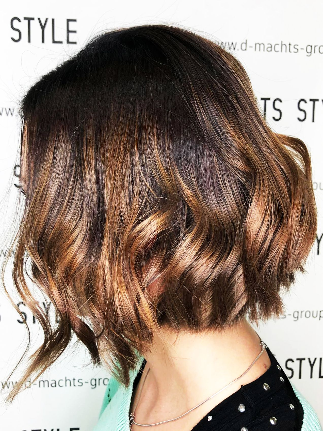 Long Bob Haircut Brown Hair Color D Machts Style Alexa