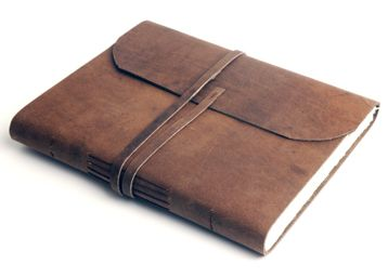 Leather journal, gift for men?