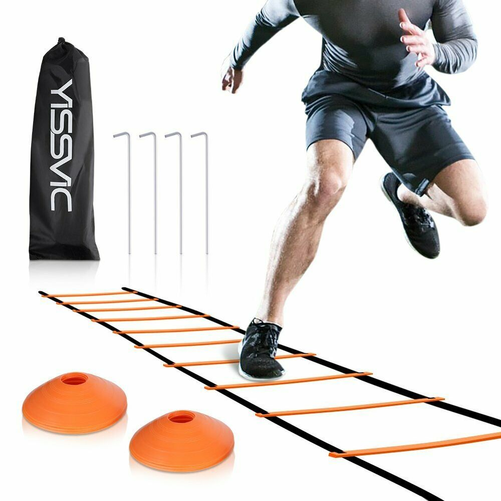 Advertisement Ebay Yissvic Agility Ladder And Cones 20 Feet 12 Adjustable Rungs Fitness Speed Train Agility Ladder Speed Training Agility Ladder Drills