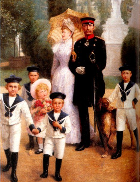 Kaiser Wilhelm II. with family