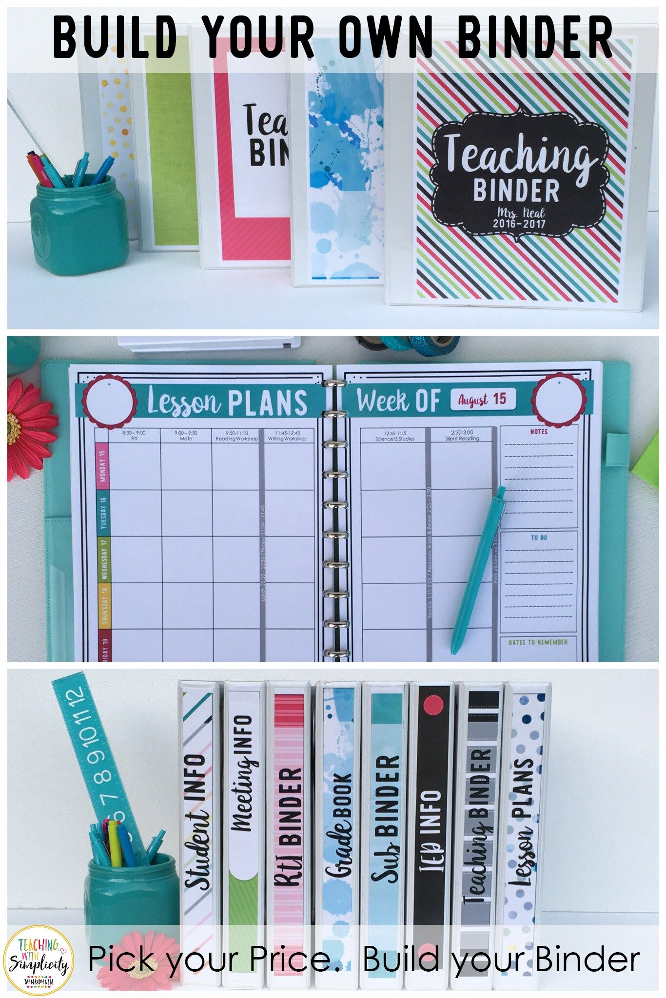 Build Your Own Binder Teaching With Simplicity Pinterest