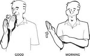 Image result for good morning asl