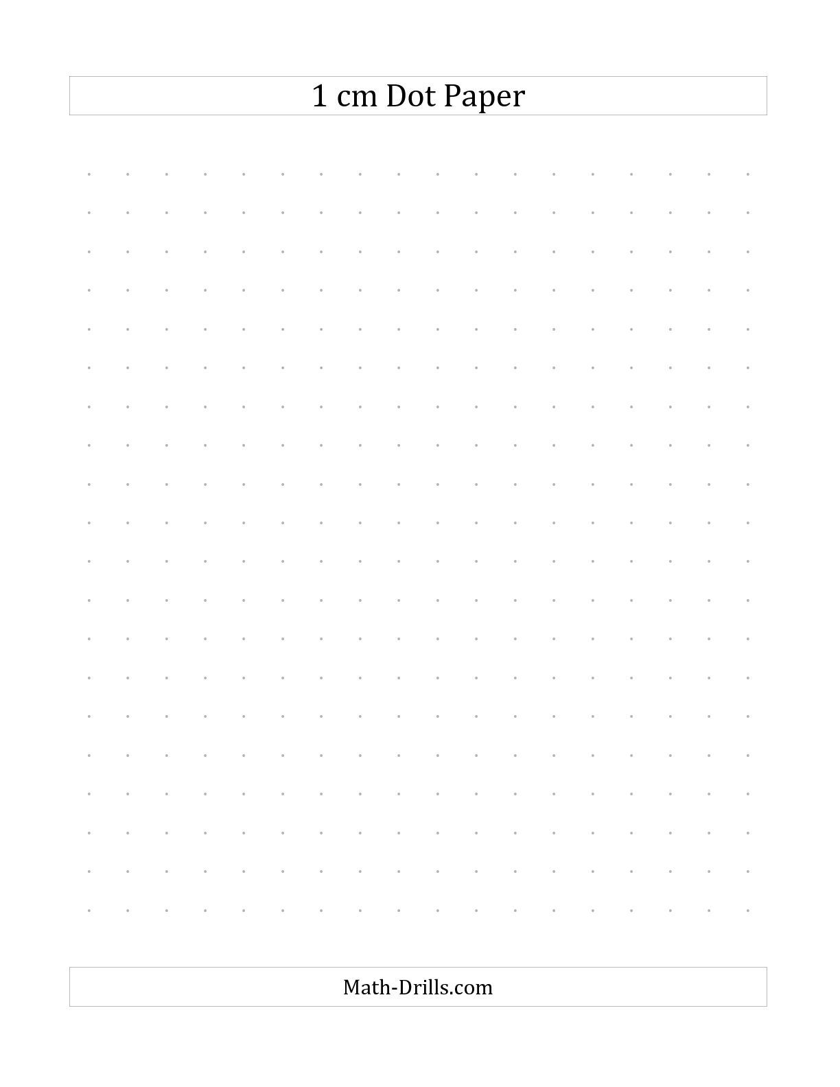 The 1 Cm Dot Paper B Math Worksheet From The Graph Paper