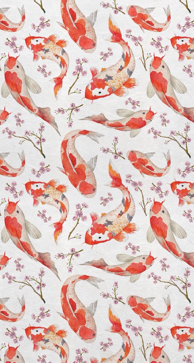 Koi Fish Art Wallpaper Iphone Art Wallpaper Fish Wallpaper
