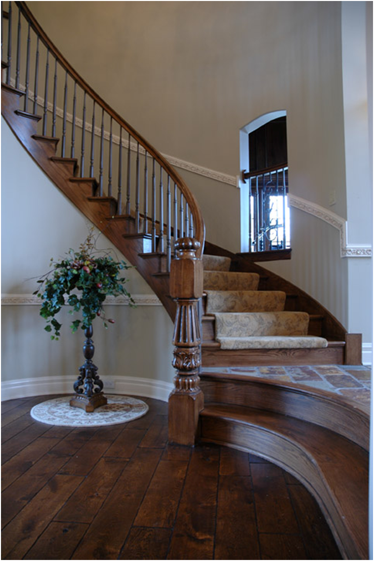 Dream staircase Beautiful curved staircase   Traditional ...