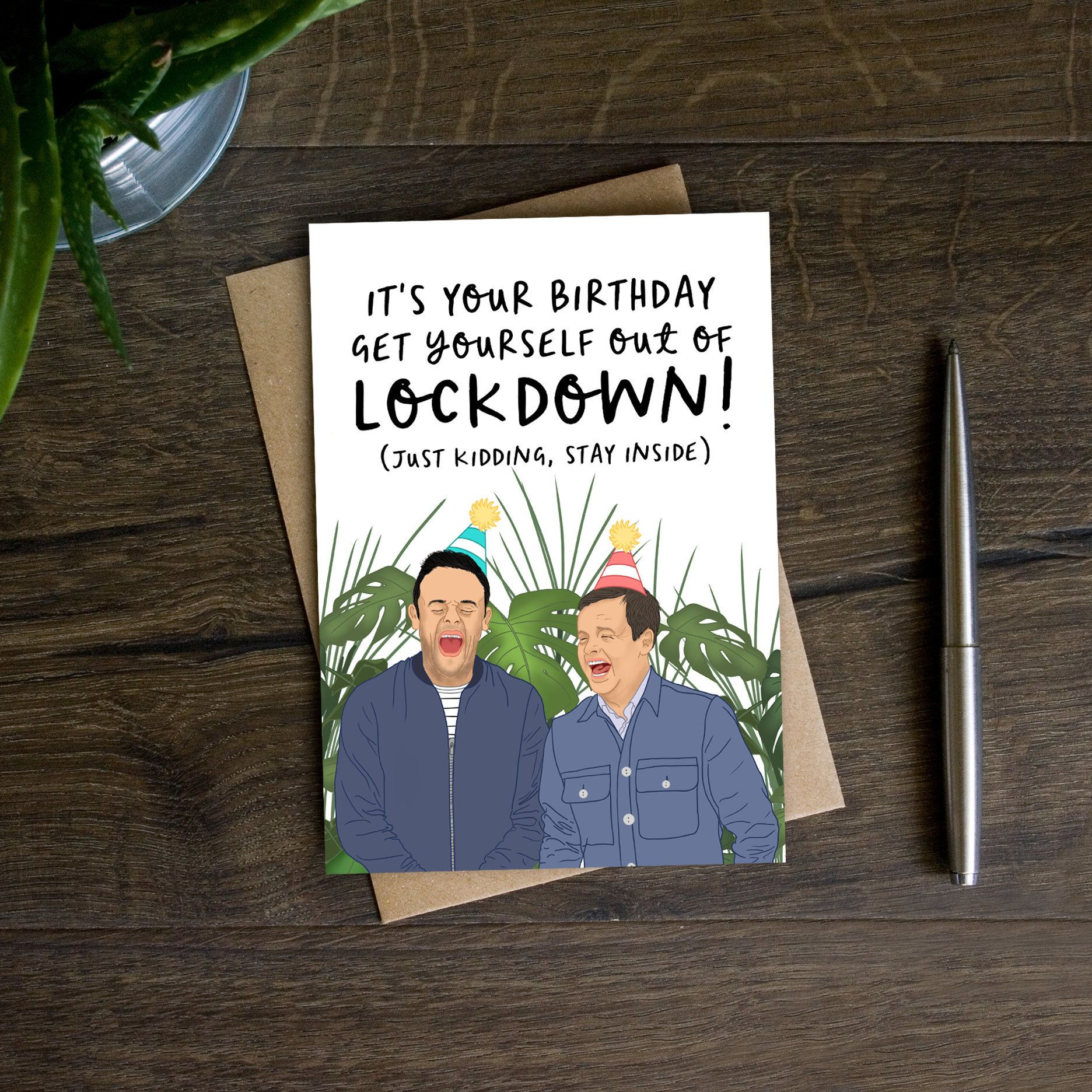 Ant And Dec Birthday Card I M A Celebrity Get Me Out Of Here Jungle Funny Lockdown Card For Him 2021 Birthday Card For Her 036 Birthday Cards For Her Birthday