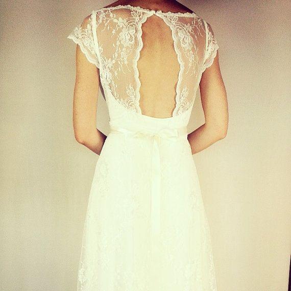 Keira Boho-Hochzeitskleid Hochzeit Spitzenkleid von TheBride2B ...