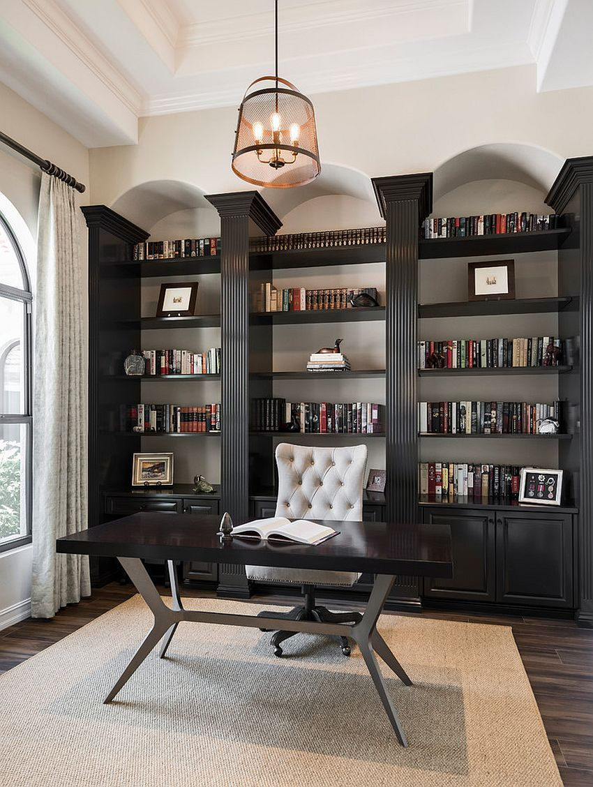 25 Home Office Shelving Ideas For An Efficient Organized Workspace Office Furniture Layout Home Office Design Home Office Furniture