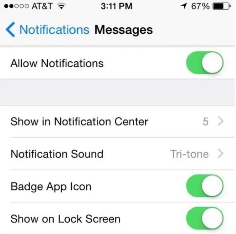 How to not show name on text message on iphone text