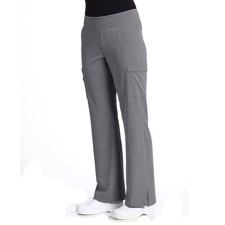 1e6fc239f5a8d Missy fit, knit waist band scrub pants, seamed pockets, cargo pockets with  stitched down flap, and vented hems. Inseam is 31 1/2