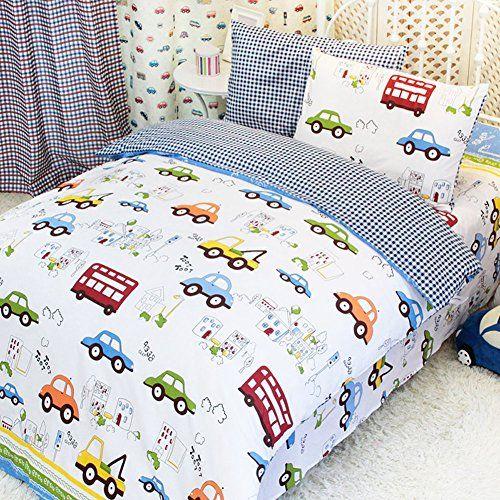 Kids' Duvet Covers - MeMoreCool Home Textile Cute Cartoon Cars ... : car quilt cover - Adamdwight.com