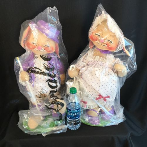 Vtg #annalee #mobilitee mr mrs easter bunny bonnet dapper soft sculpt #figures 20,  View more on the LINK: http://www.zeppy.io/product/gb/2/291813238616/