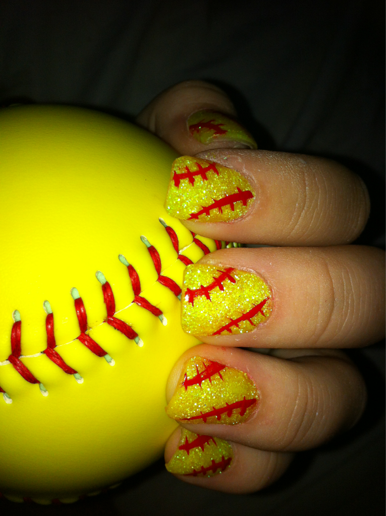 softball nails i have to do this for softball season - Probably The Only Nail Polish Picture You Would Ever See Me Post
