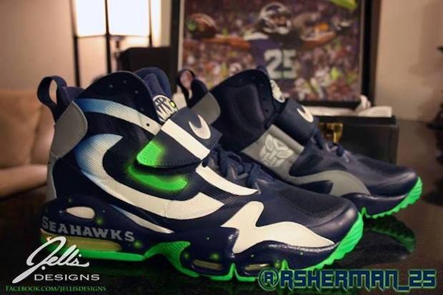 Seattle Seahawks Custom Shoes: Nikes