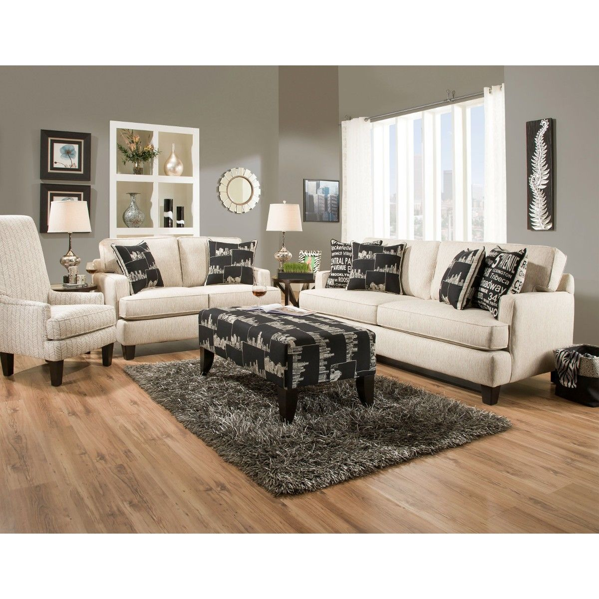 Cityscape Living Room Sofa Loveseat G870 Conn S Home Ideas