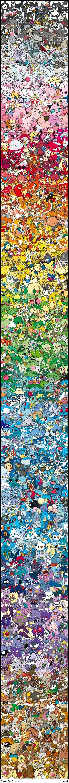 Every Single Pokémon Arranged by Color