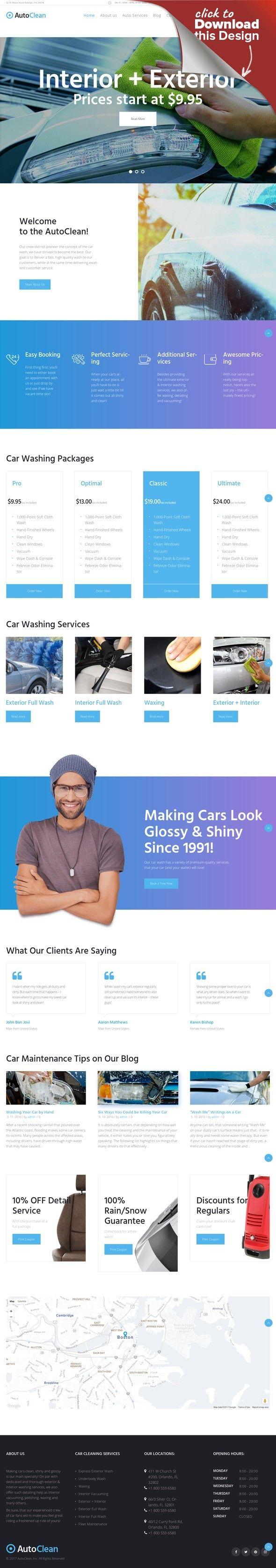 Tema de WordPress para Sitio de Lavado de autos | Mantenimiento de ...