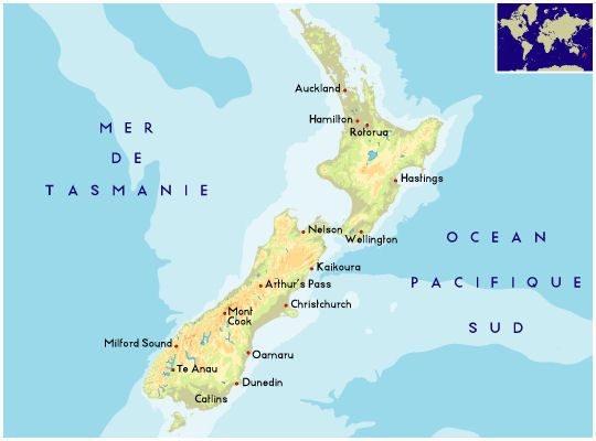 Carte De La Nouvelle Zelande Nouvelle Zelande